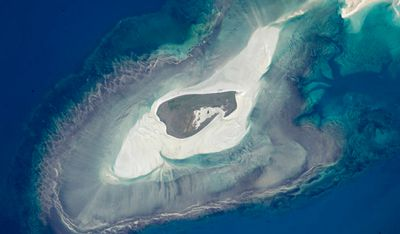 Adele Island, off Australia's north coast. Image taken June 11.