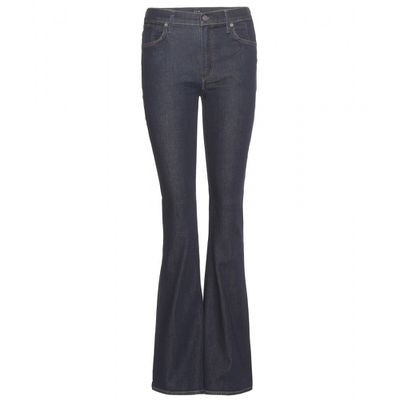 <p>These jeans have a more modest, straighter shape than some of the season's flares, making them a flattering and highly wearable style - in a perfect muted blue to boot.</p>