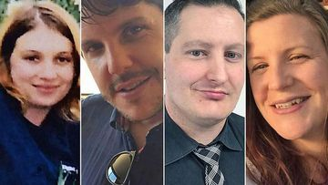 Dreamworld tragedy victims (from left): Cindy Low, Luke Dorsett, Roozi Araghi and Kate Goodchild.
