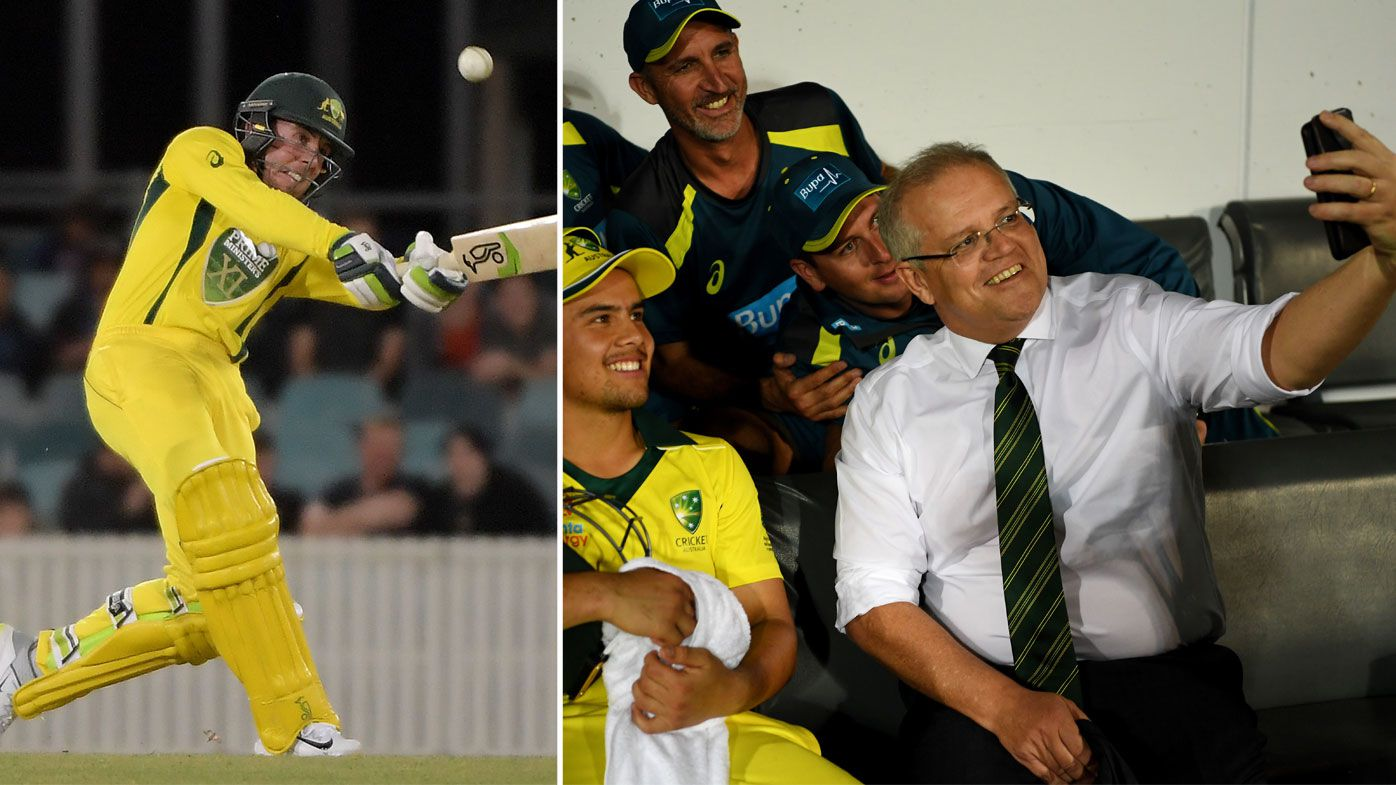 PM's XI win T20 thriller against Sri Lanka with 'waterboy' ScoMo