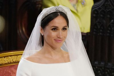 Meghan Markle weds Prince Harry, May, 2018.