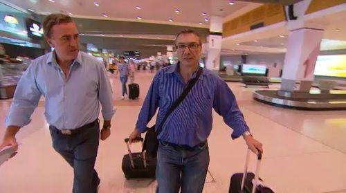 ACA reporter Brady Halls with John Giannasca.