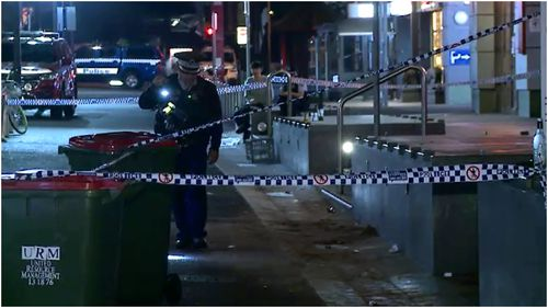 A man has been hospitalised after a hammer attack during an overnight central Sydney brawl.