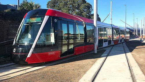 The light rail is due to open in March next year. (AAP)