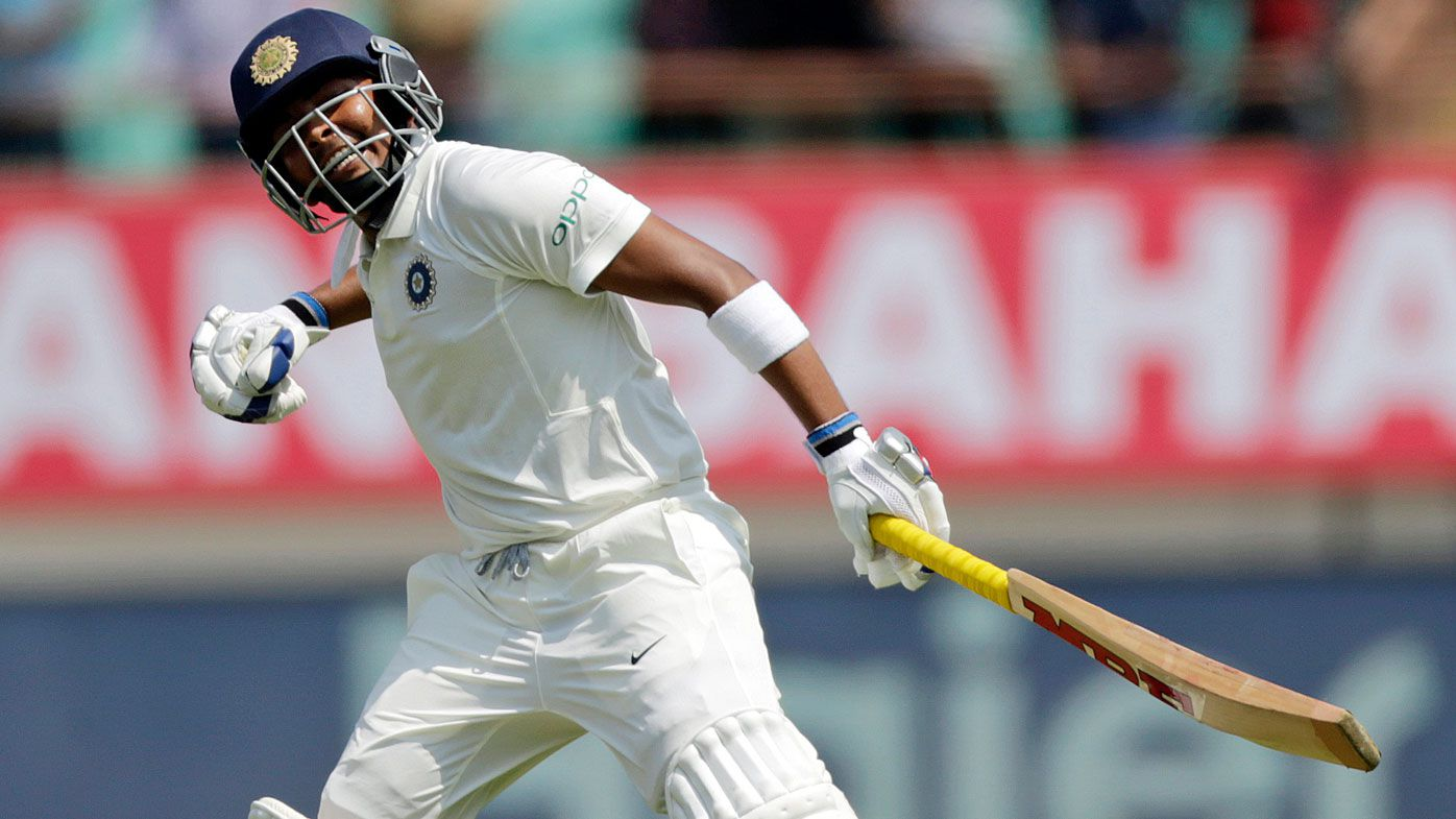 Indian cricketer Prithvi Shaw