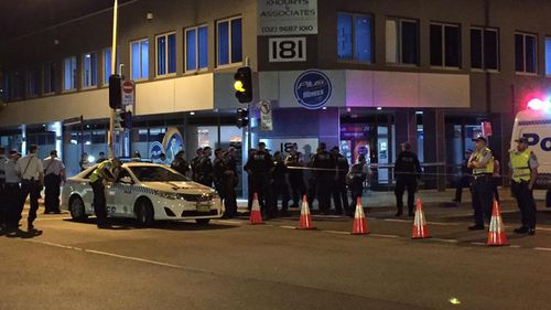 An exclusion zone was declared last night, as police investigated the attack. (9NEWS / Airlie Walsh)