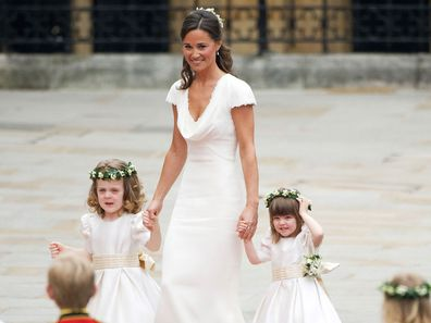 Pippa Middleton at the 2011 royal wedding of Prince William and Kate Middleton.