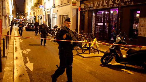 Paris police tweeted Saturday evening saying the knifeman targeted five people, killing one and seriously injuring two. (Picture: AP)