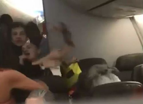 """""""Air rage"""" incidents can be frightening for passengers."""