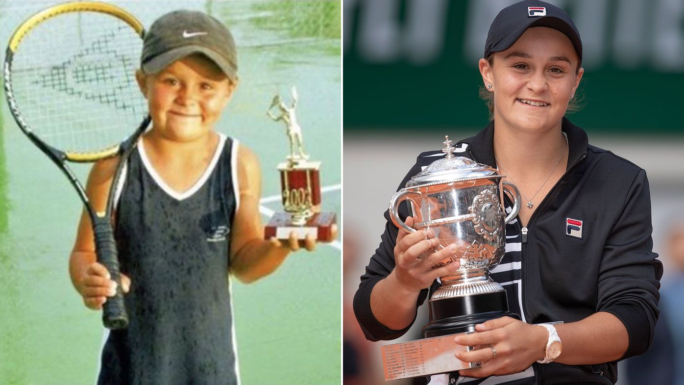 Tennis world reacts to Ash Barty's French Open win, childhood photo goes viral