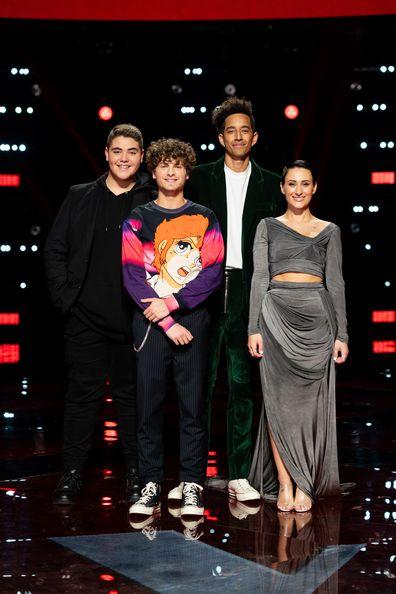 The Voice 2019 Grand Finalists Jordan Anthony, Daniel Shaw, Zeek Power and Diana Rouvas