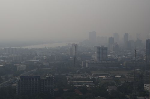 Heavy smog in Bangkok