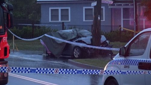 A passenger has died after a single-vehicle crash in Sydney's west.
