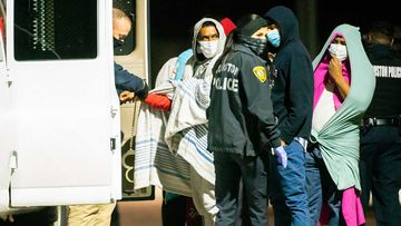 Nearly 30 people were kept locked inside a home in Texas as part of a human smuggling operation.