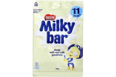 Fun-size Milky Bar: 2 teaspoons of sugar
