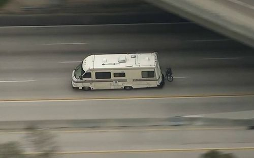 Police are chasing the motorhome through Los Angeles. (Supplied)