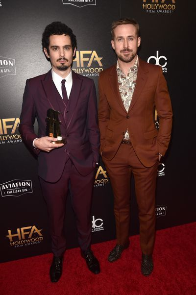 Director Damien Chazelle with Ryan Goslingat the 22nd Annual Hollywood Film Awards, November, 2018