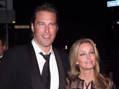 Bo Derek, John Corbett, Vanity Fair Oscar Party 2002, Morton's, Los Angeles