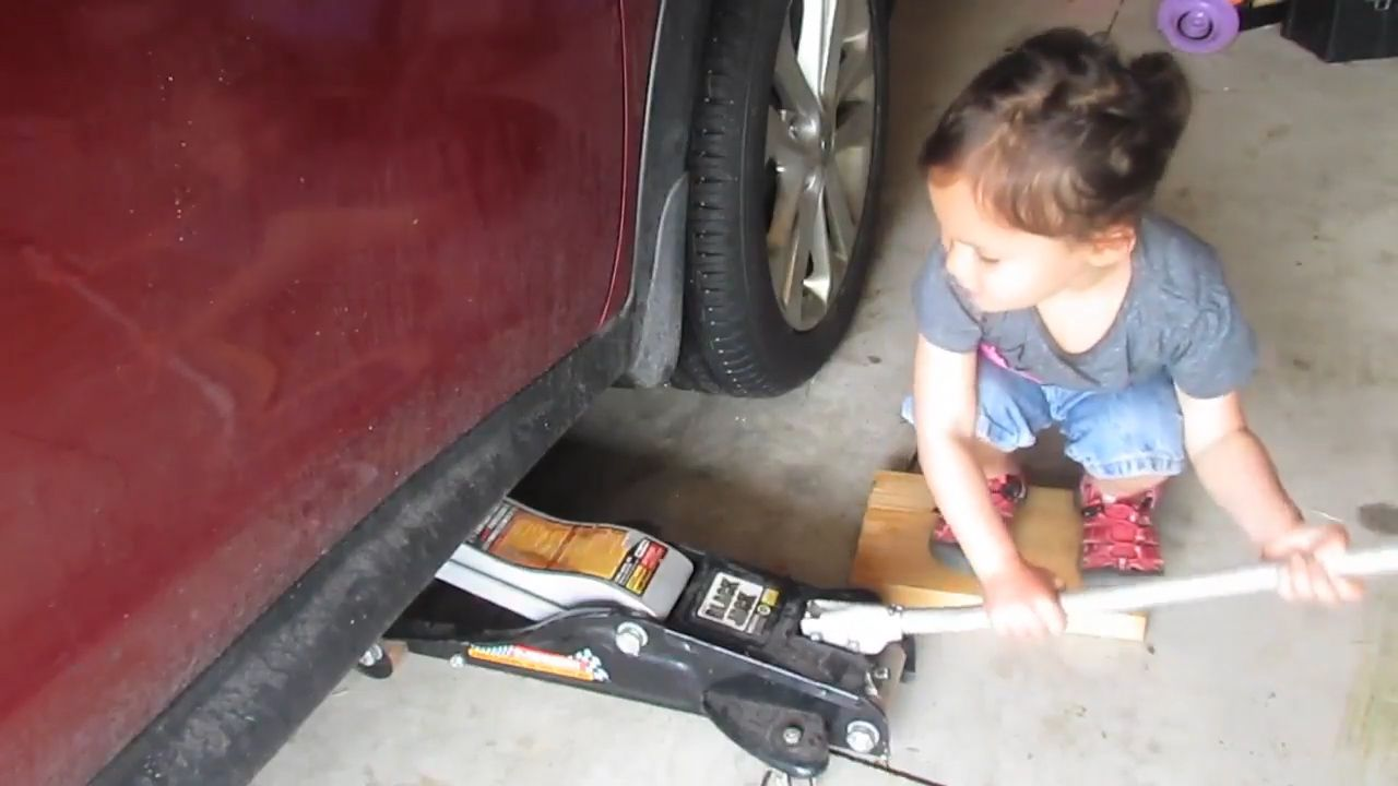 Cute kid shows how to do a car oil change  9Honey
