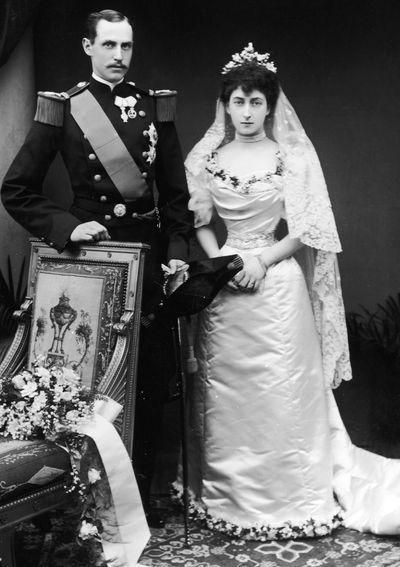 Queen Maud of Norway, married 1896