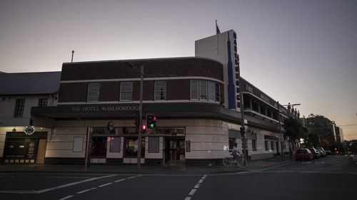 Newtown's Marlborough Hotel, normally bustling with people, has been shuttered for weeks.