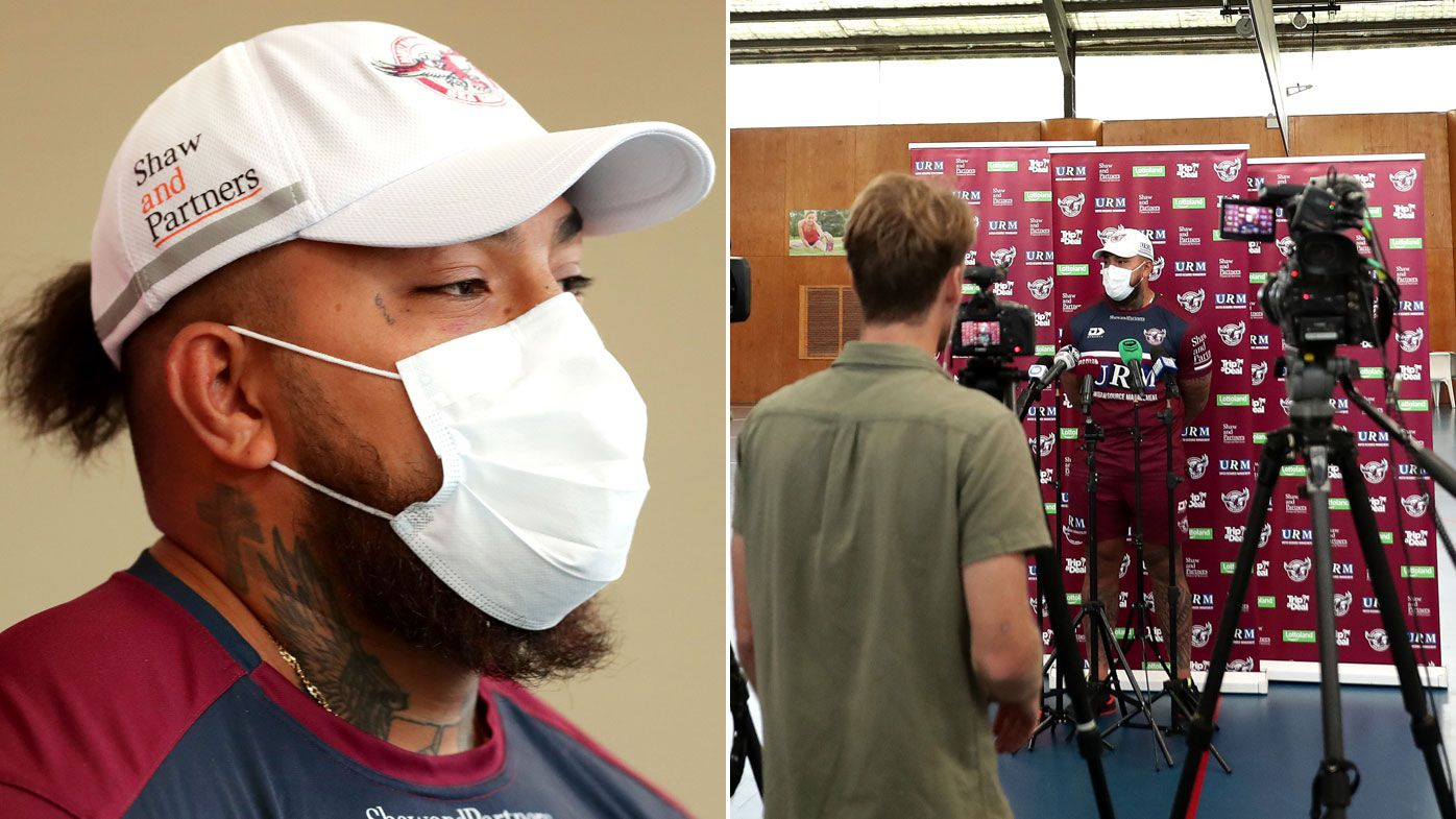 'There will be a lot more people wearing it': Addin Fonua-Blake poses radical coronavirus protection step