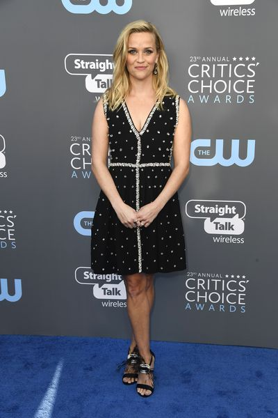 Actress Reese Witherspoon at the 2018 Critics Choice Awards