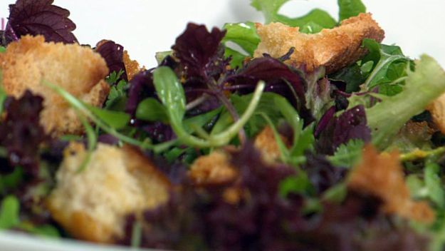 Mixed leaf and herb salad