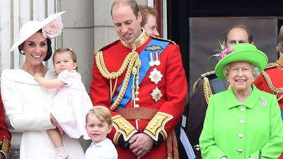 Princess Charlotte and family, June 2016