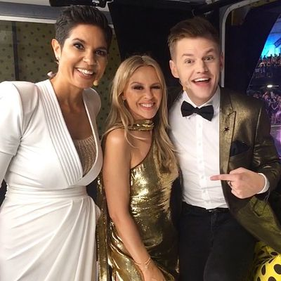Kylie Minogue and Joel Creasey