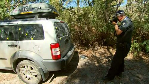 His four-wheel-drive was located in a car park on the corner of Stoney Creek Road and Rosea Track. (9NEWS)