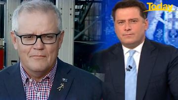 Karl Stefanovic and Scott Morrison in tense exchange over India flight ban