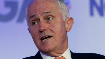 Australian Prime Minister Malcolm Turnbull speaks during the National Governor Association 2018 winter meeting. (AAP)