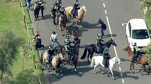 Police have made multiple arrests.