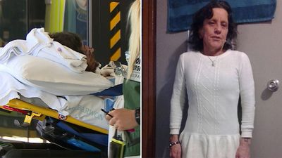 Grandmother 'died in killer's arms' after being stabbed in the chest