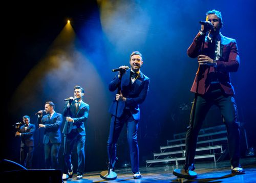 Boy band The Overtones had four albums in the UK top 10.