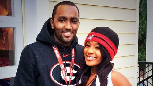Nick Gordon (left) and Bobbi Kristina Brown (right) in a photo uploaded to her Twitter account November, 2013. (Twitter user @REALbkBrown)