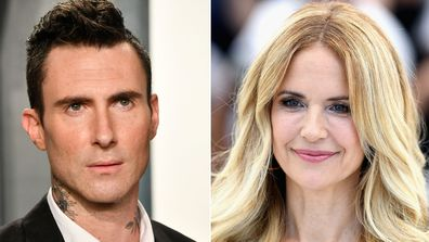 Adam Levine (left) Kelly Preston (right)