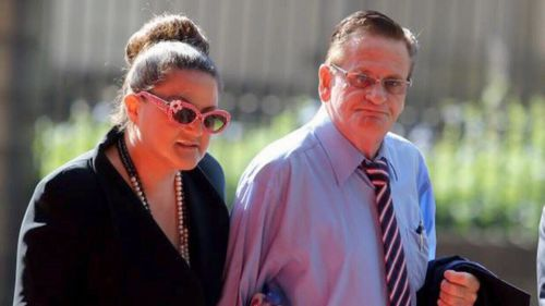 Les Young with his current partner Josephine Smith.