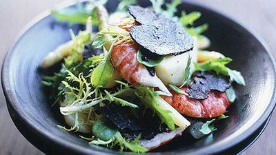 "Recipe:&nbsp;<a href=""http://kitchen.nine.com.au/2016/05/17/15/02/marron-truffle-and-asparagus-salad"" target=""_top"">Marron, truffle and asparagus salad</a>"