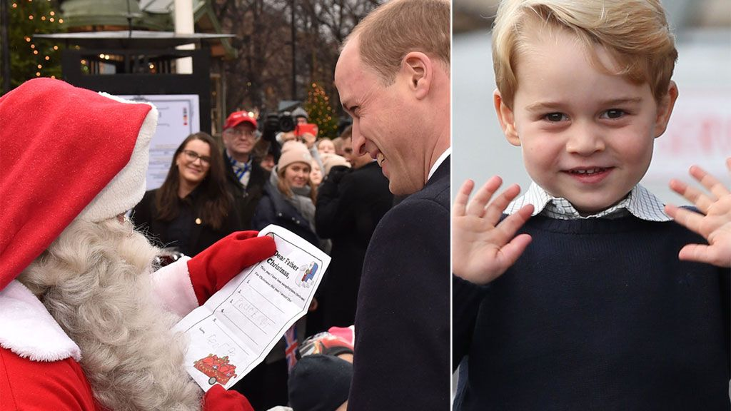 Prince William hand-delivers Prince George's letter to Santa