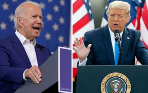 Donald Trump and Joe Biden hold competing town halls