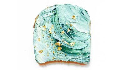 Mermaid toast picks up where unicorn toast left off