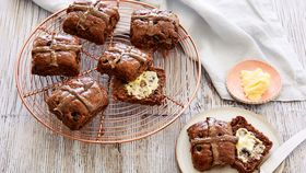 Tiffiny Hall's chocolate hot cross buns