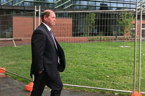 Mr McCurdy outside the Shepparton Magistrates' Court yesterday.