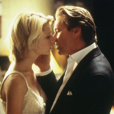 <p>Michael Douglas and Gwyneth Paltrow in <em>A Perfect Murder</em> </p><p><strong>Age gap:</strong> 28 years</p>