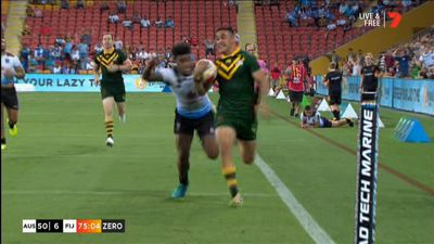 Holmes scores six in 'Roos SF rout of Fiji