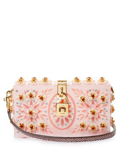 "The bag: <a href=""http://www.matchesfashion.com/au/products/Dolce-%26-Gabbana-Dolce-Box-embellished-plexiglass-clutch-1069321"" target=""_blank"">Dolce & Gabbana</a> plexiglass clutch, $5,668."