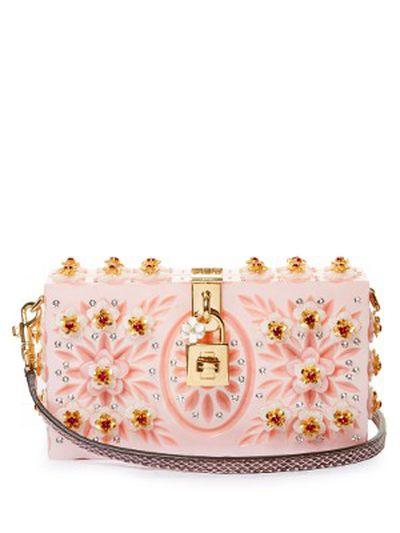 "The bag:<a href=""http://www.matchesfashion.com/au/products/Dolce-%26-Gabbana-Dolce-Box-embellished-plexiglass-clutch-1069321"" target=""_blank"">Dolce & Gabbana</a> plexiglass clutch, $5,668."