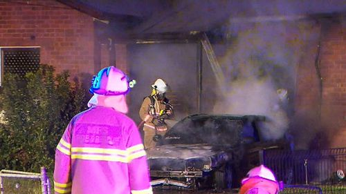 Neighbours heard a commotion around the property before the blaze. (9NEWS)